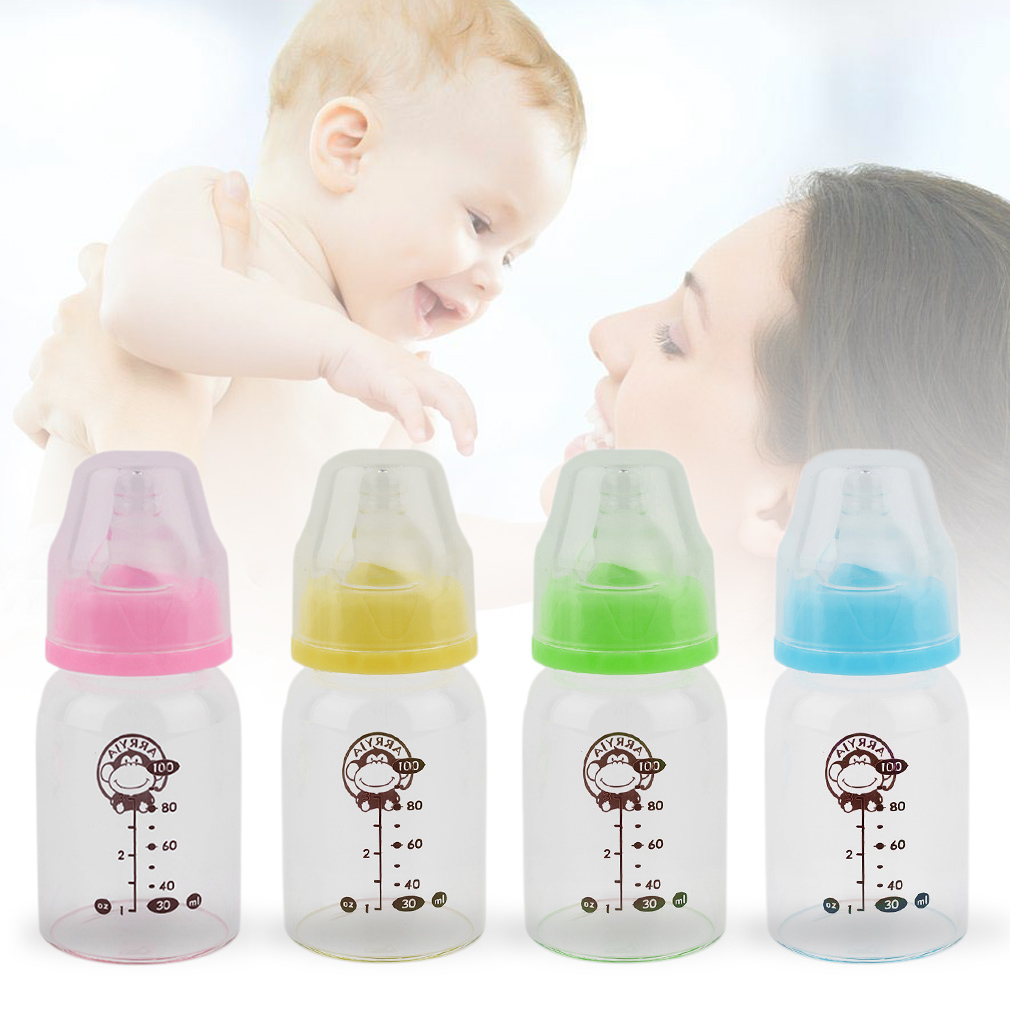 Thick High Boron Silicon Standard Mouth Straight  Baby Feeding Bottle 100ml