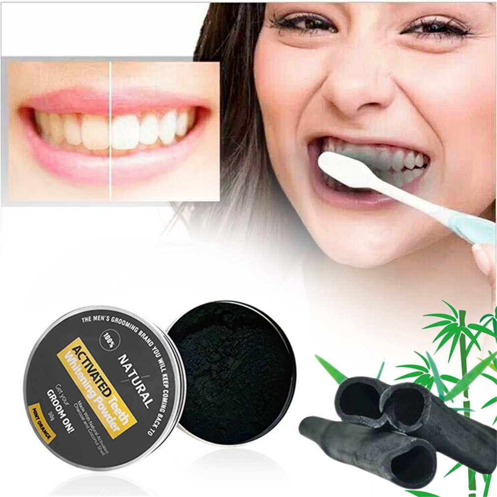 50g Coconut Shell Activated Charcoal Teeth Powder Whitening Cleaning Power