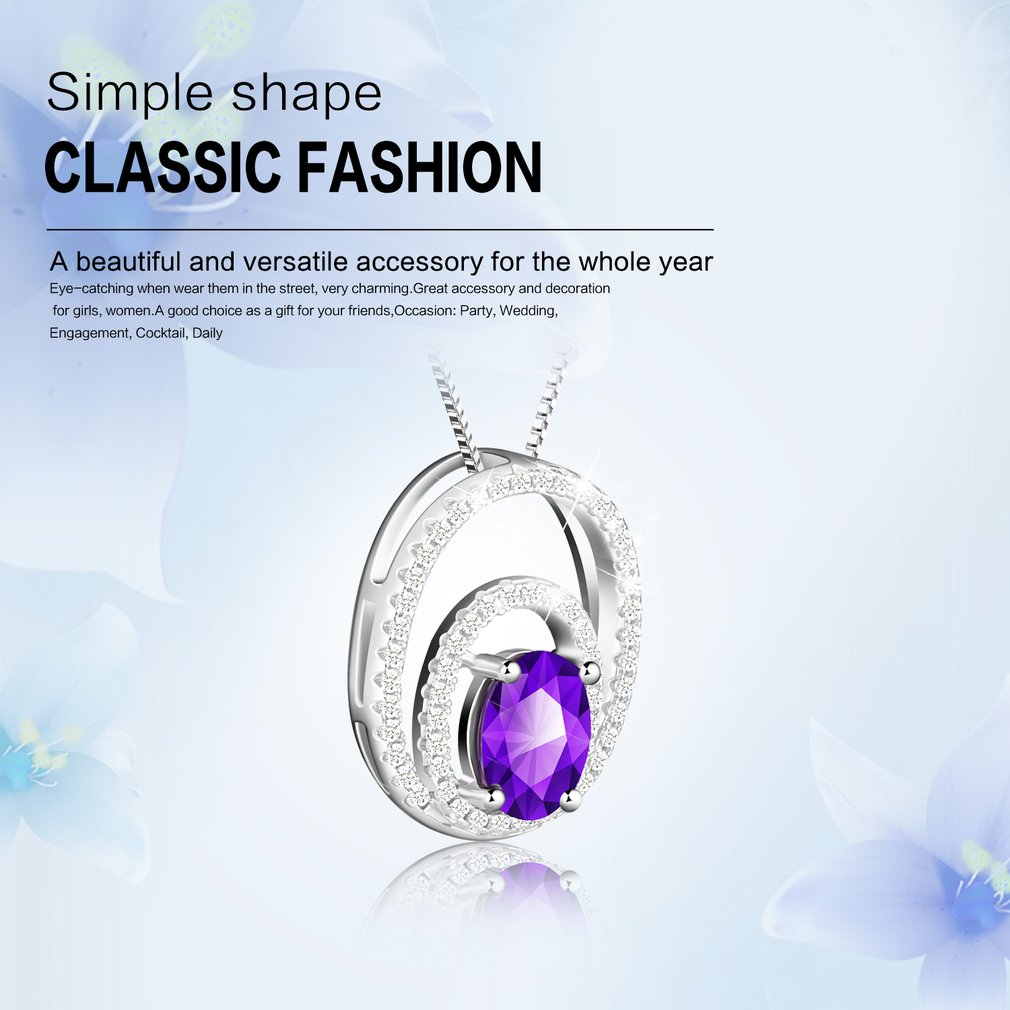 Fashionable Jewelry Elegant Woman Embedded Shiny Zircon Luxury Necklace Pendant Necklace Unique For Wedding Party Gift