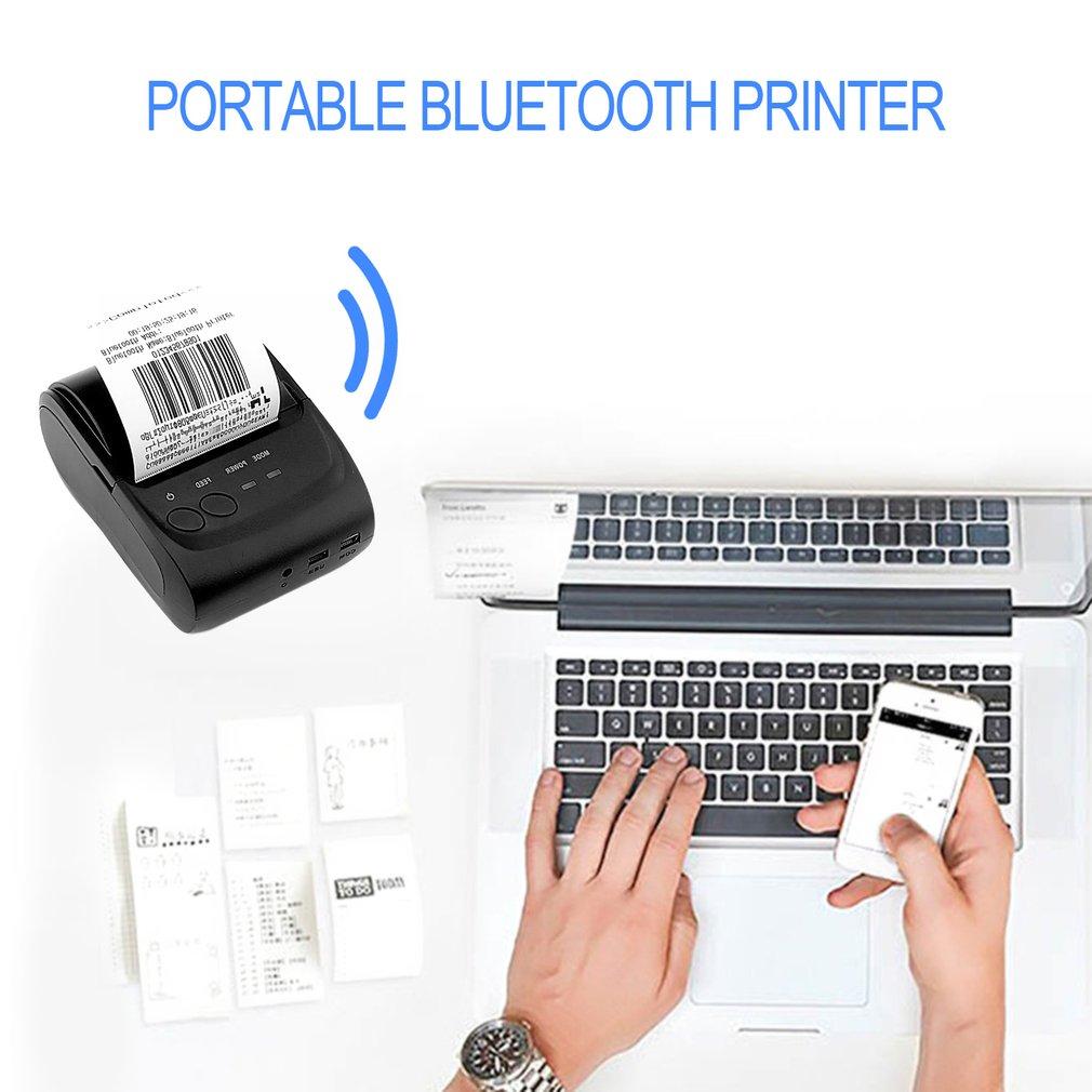 58mm Wireless Bluetooth USB Portable Thermal Line Printing Receipt Printer