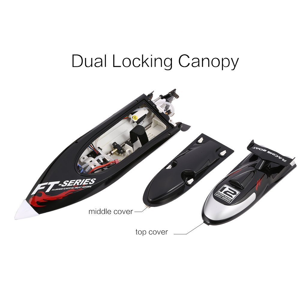 Feilun FT012 45km/h High Speed RC Brushless Racing Boat Flipped Water Cooling