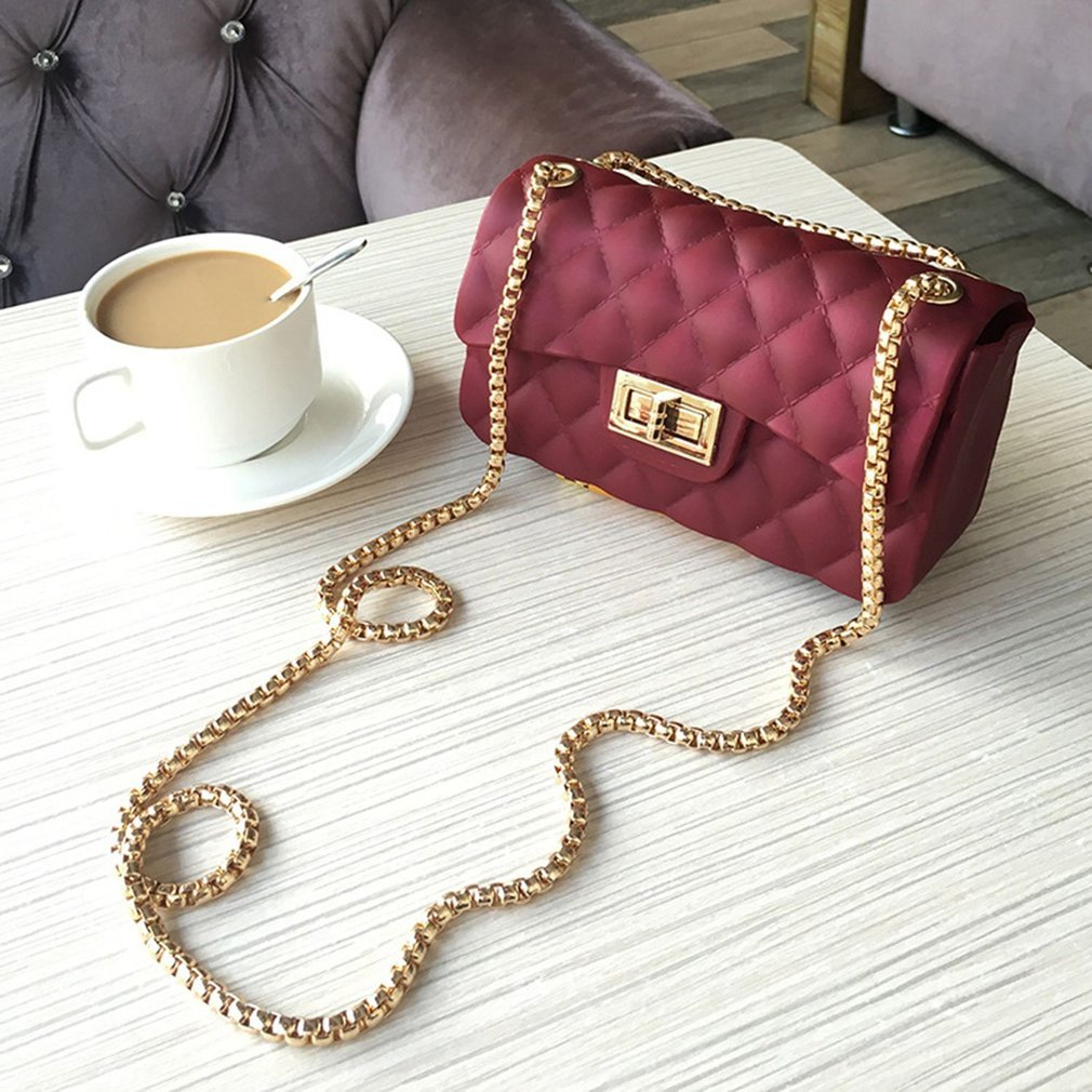 Fashion Rhombus Plaids Women Messenger Bag Multifunctional Storage Bag with Adjustable Single Strap & Exquisite Hasp