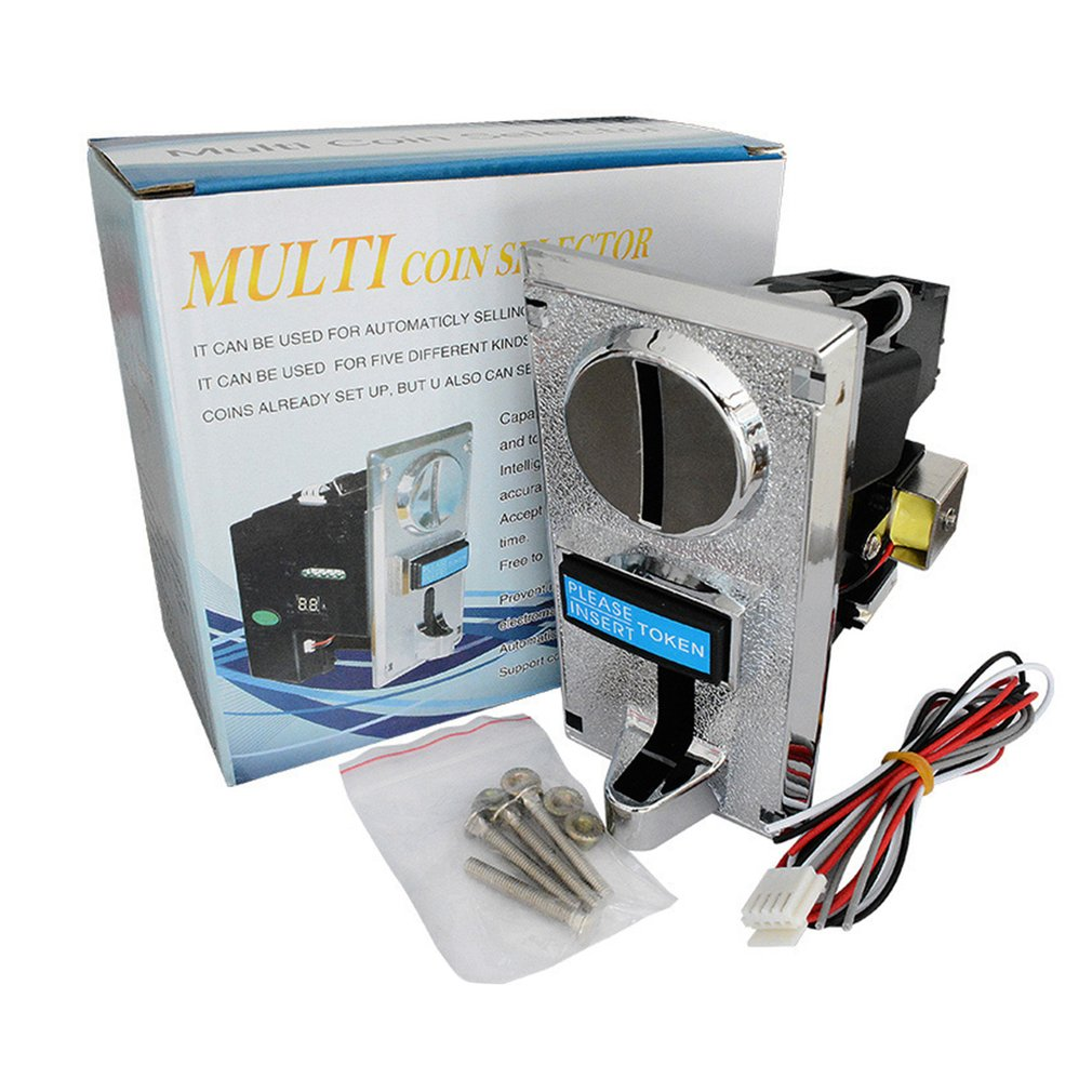 Programable Plastic Multi Coin Acceptor Electronic Roll Down Coin Acceptor