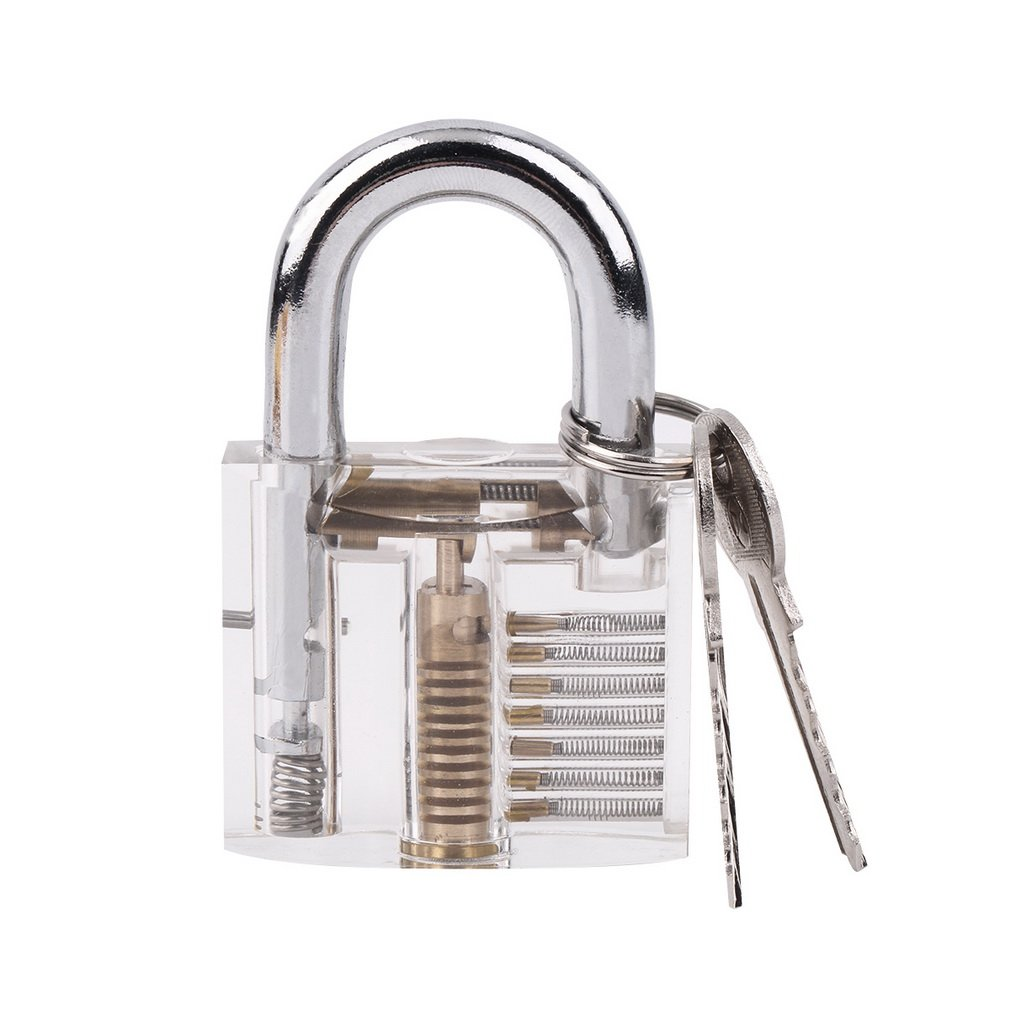 Good Pick Cutaway Visable Padlock Lock For Practice Training Skill Set