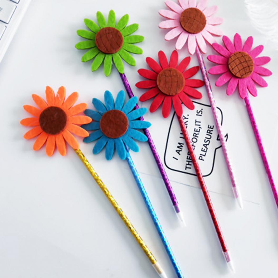 4Pcs Sunflower Ballpoint Ink Filled Gel Pen Writing Marker Kids Stationery Gift