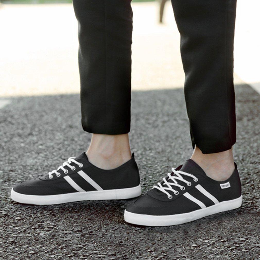 RENBEN 9991 Stylish Students Low Top Flat Men Shoes Casual Shoes Stripe Design
