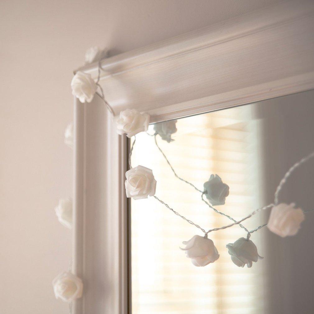 DIY 10 LEDs Simulation Roses Stripe Lights Holiday Lighting Home Decoration