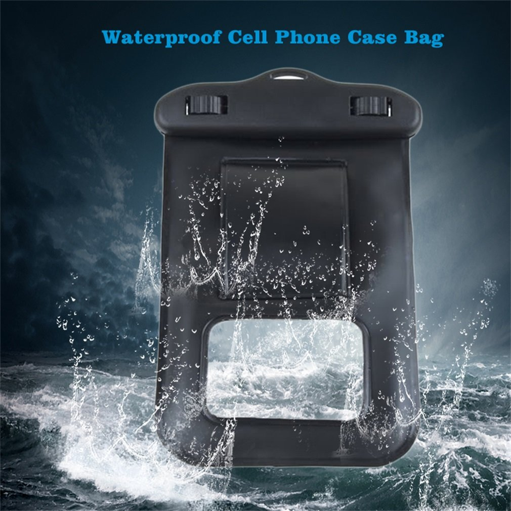 NEW Swimming Sport MUSIC IN WATER Waterproof Cell Phone Case Bag Black 85*120mm
