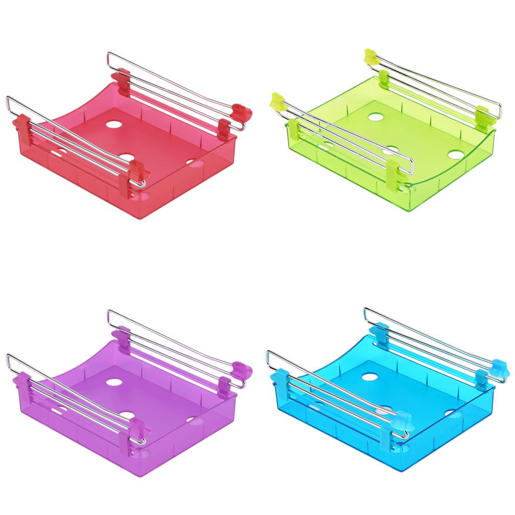 Lightweight Unique Fridge Spacer Layer Storage Rack Slide Under Shelf Fresh Holder