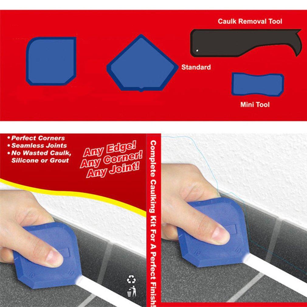 Glass Silicone Gel Sealant Angle Corner Spreader Spatula Rubber Scraper