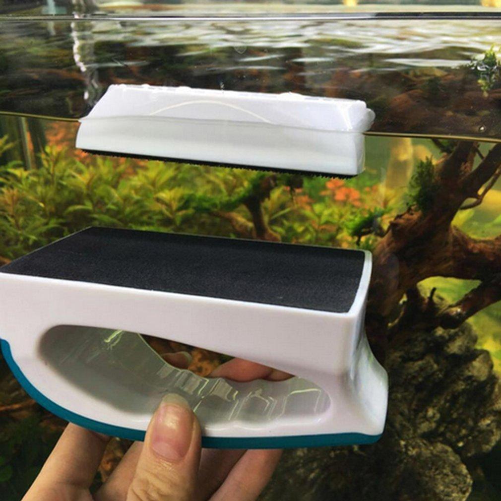 ZY-02 Fish Tank Glass Scraper Cleaner Aquarium Fish Tank Cleaning Tools Magnetic Suspended Cleaner Brush Aquarium Accessories