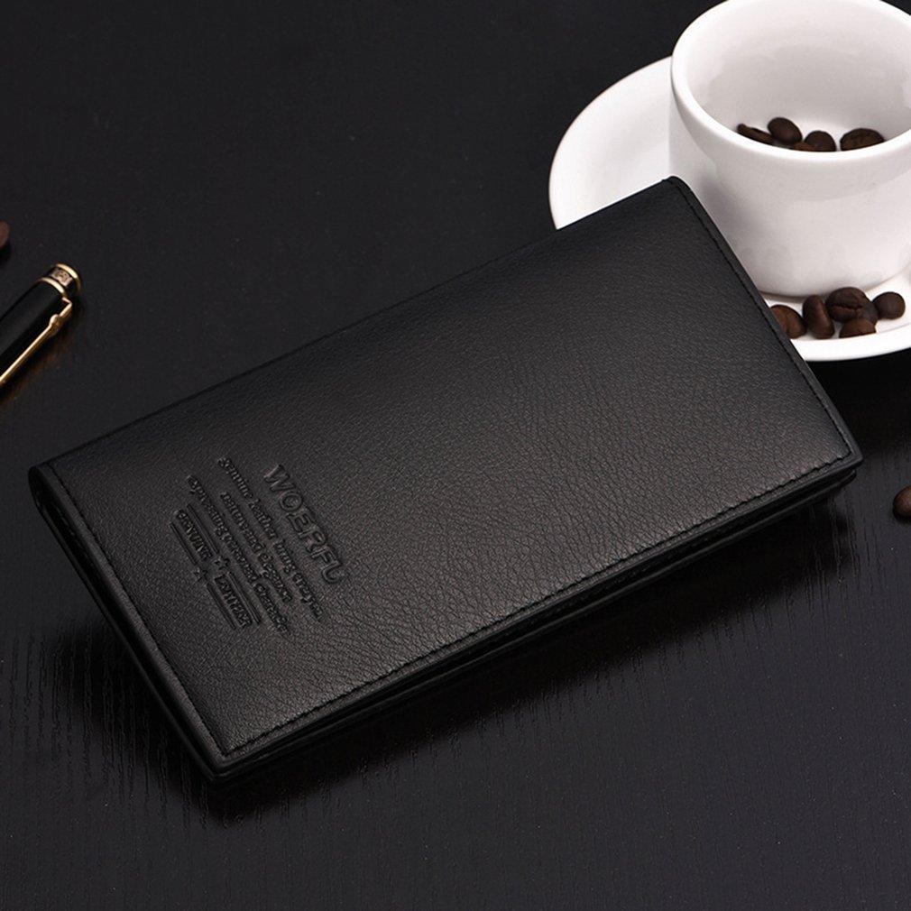 Vintage Business Style Men Long Wallet Fashionable Soft PU Leather Multi-Card Slots Credit Cards Holder Wallet