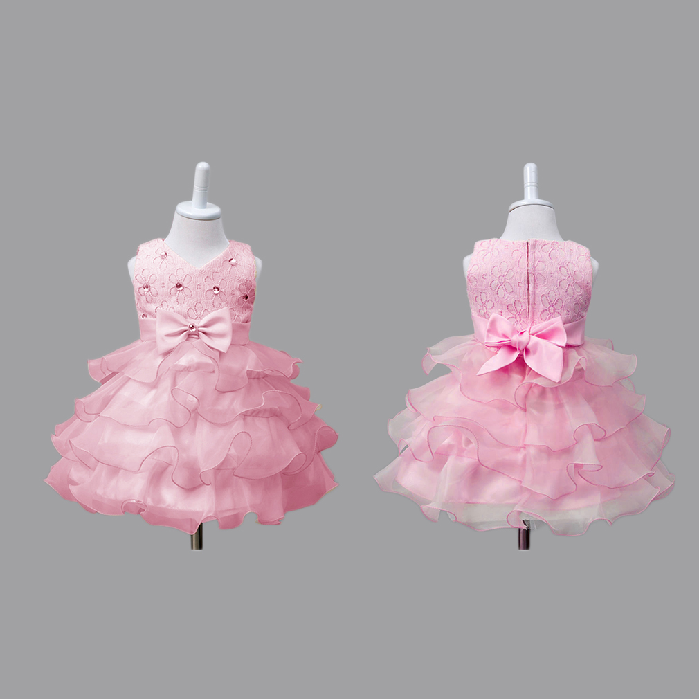 Girl Flower Gown Princess Dress Ruffles Lace For Wedding Party Events Wearing