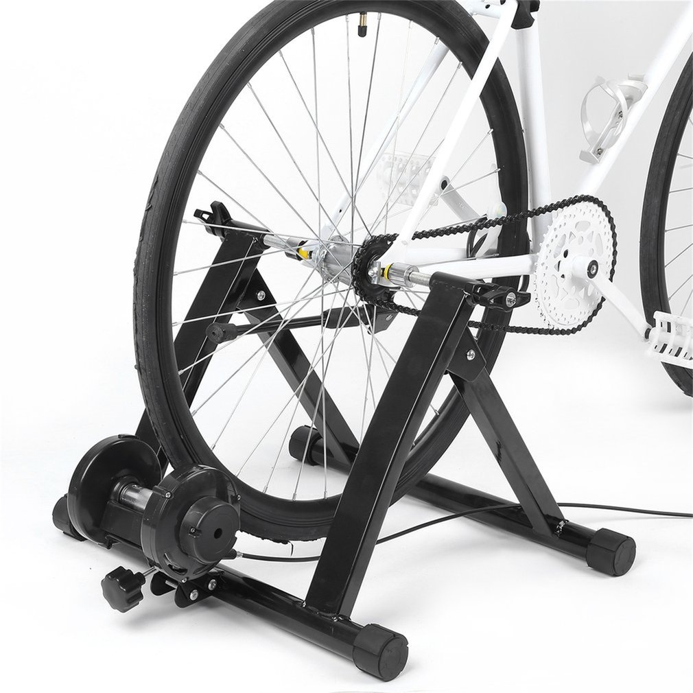 Adjustable Handlebar Indoor Bicycle Trainer Stand Cycling Magnetic Controler