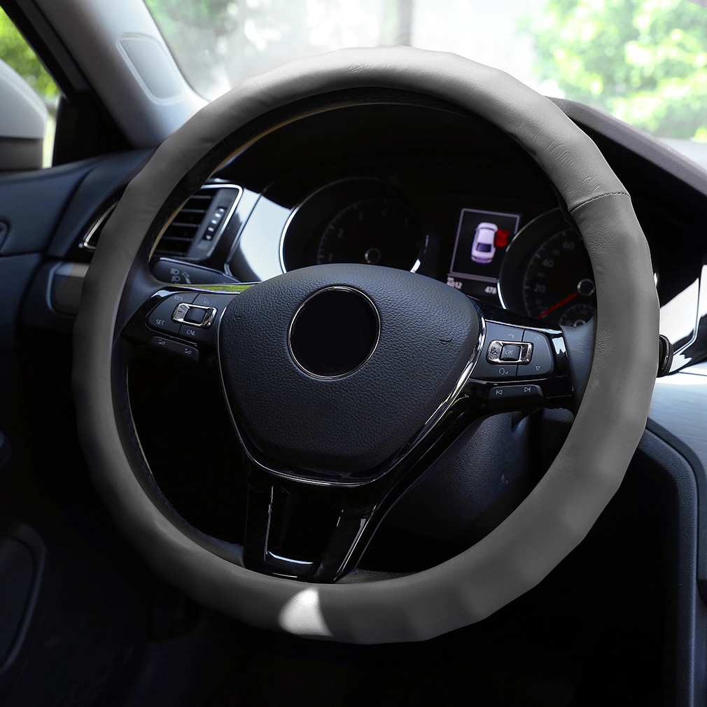 Trendy Style Steering Wheel Cover Stitch Steering Wheel Cover PVC Leather