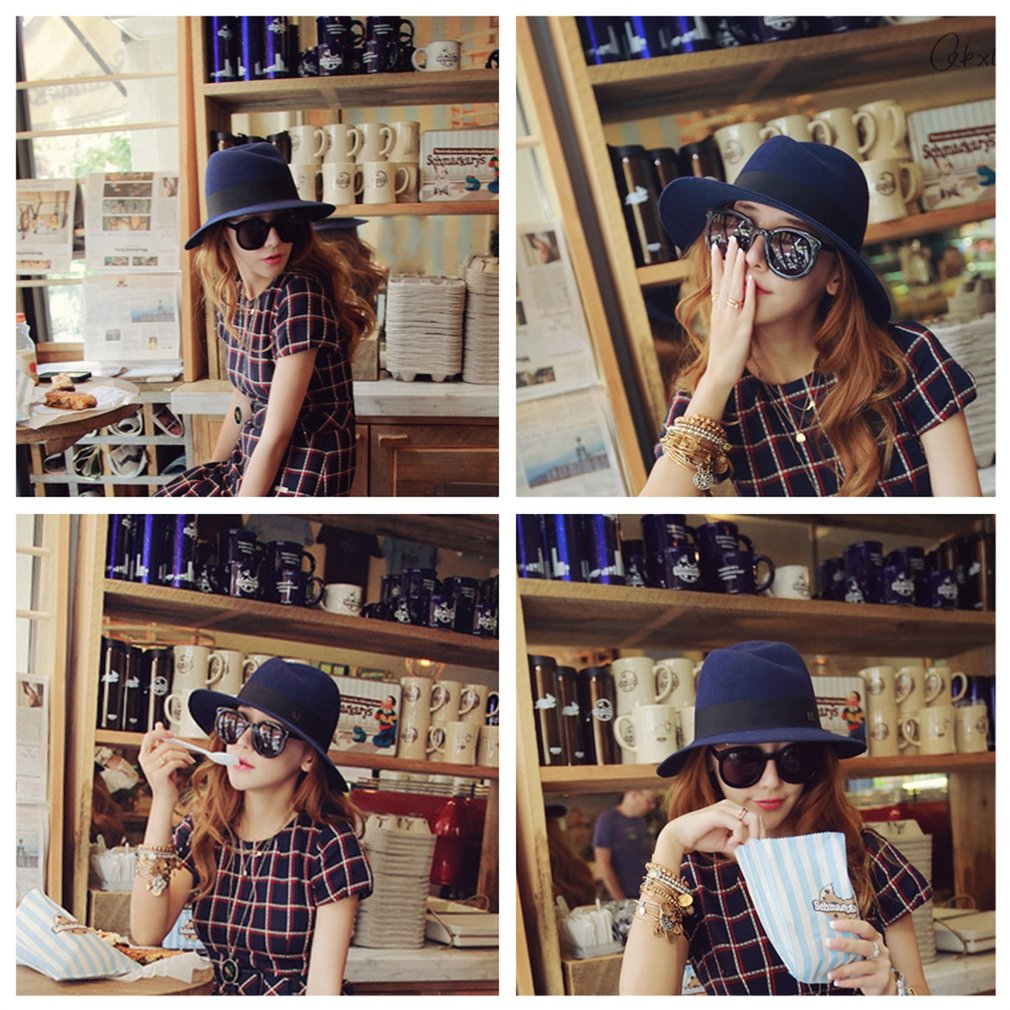 NEW Fashion Retro Trendy Cute Ladies Women Wool Felt Cloche Bowler Hat Cap