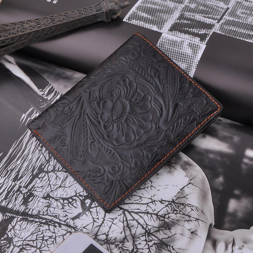 Personality Flower Pattern Fashion Short MIni Wallet Men Purse Clutch Bag