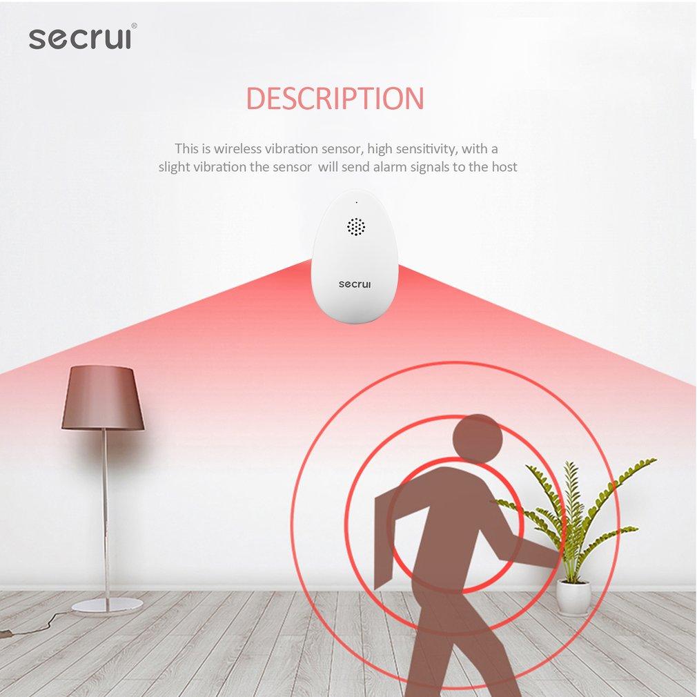 SECRUI GB2 Wireless Glass Break Detector Window Glass Breakage Security Sensor