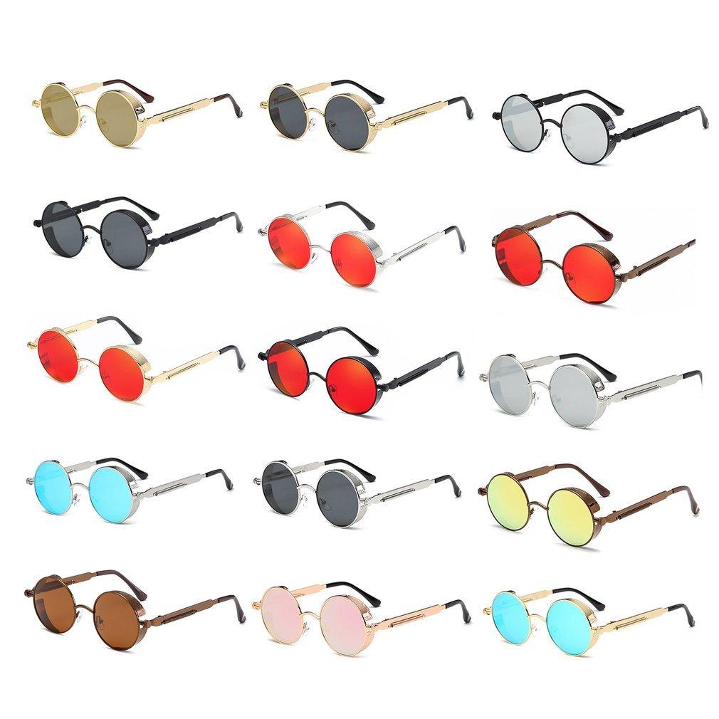 Vintage Round Frame Sunglasses Anti-ultraviolet Lightweight Sun Glasses Woman Man Fashion Eyewear For Summer Beach Travel