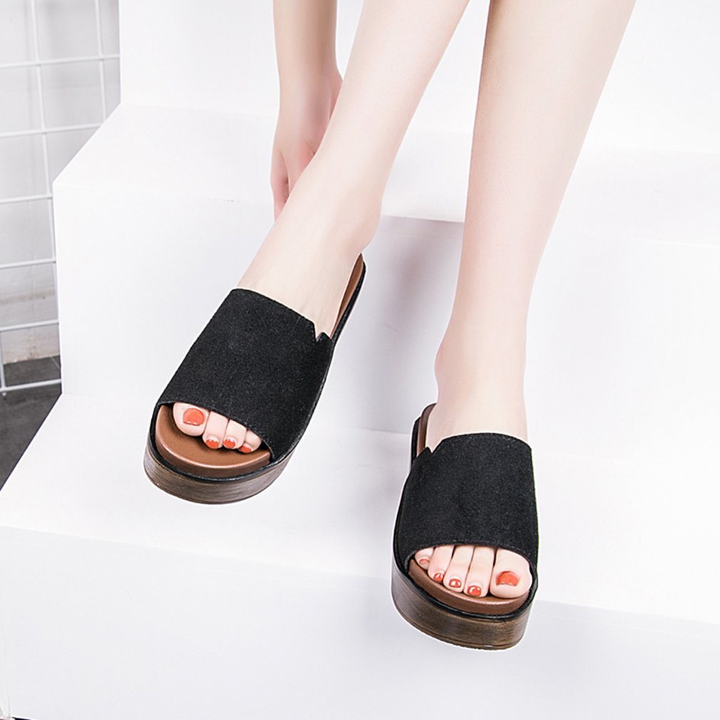 High Sandals Slippers Thick Muffin Sole Slippers Summer Fashion Female Shoes
