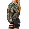 Quick-selling ebay Amazon winter explosive women's wear European and American camouflage hooded long-sleeved plus thick clothing
