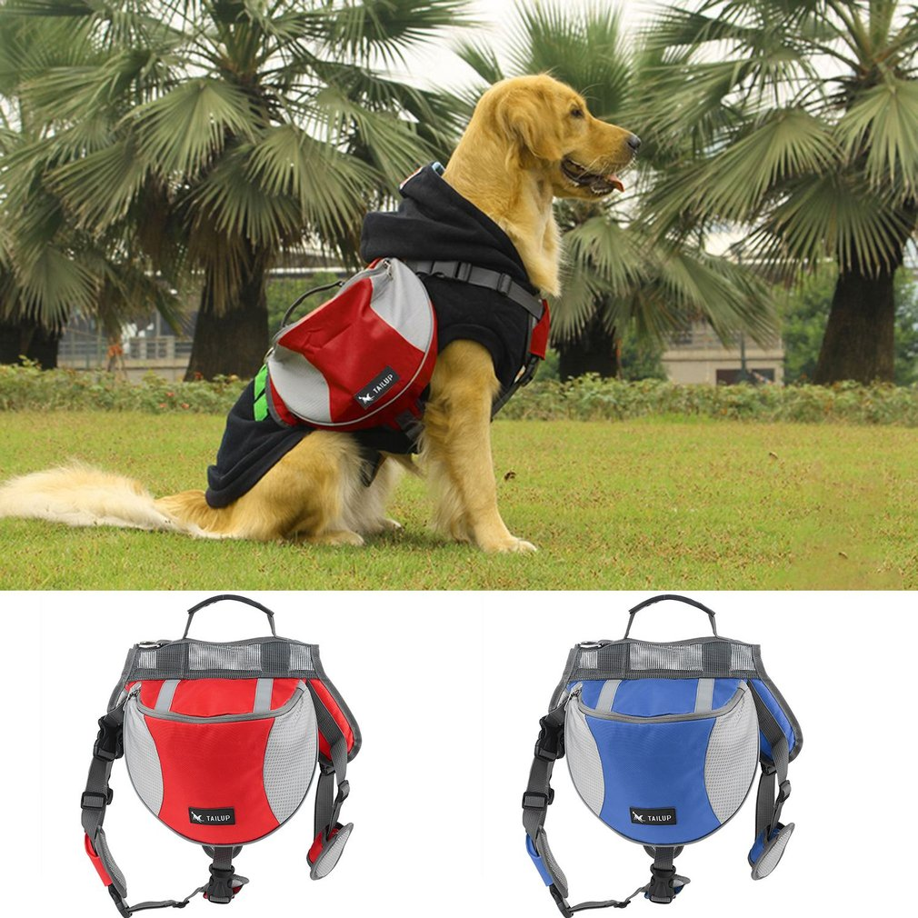 TAILUP Outward Pet Backpack Saddle Bag For Training Camping Hiking Traveling S