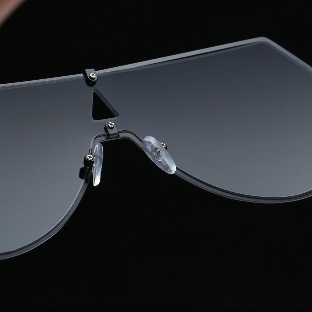 Unique Shield Sunglasses Large Vintage Sun Glasses UV400 Eyewear Metal Frame Resin Lens Popular Ladies Travel Glasses BZ256
