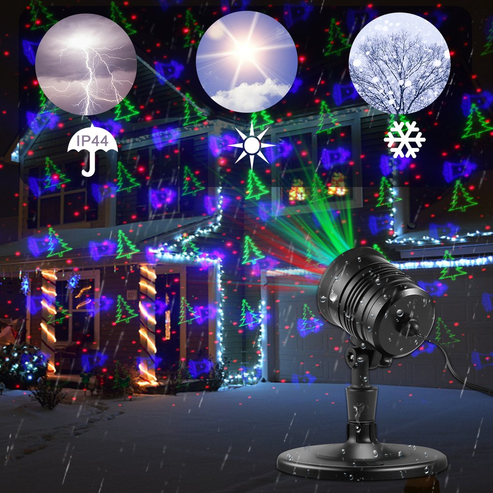 Mini Outdoor Garden Landscape LED Laser Projector for Holiday Party Decor
