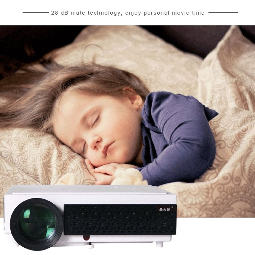 HTP96+ Android Projector 1080P HD Wifi Bluetooth LED Home Theater HDMI USB