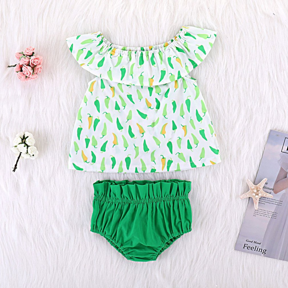 Cute Toddler Baby Girls Sleeveless T-Shirt Vest Top Shorts Outfit Clothes Set