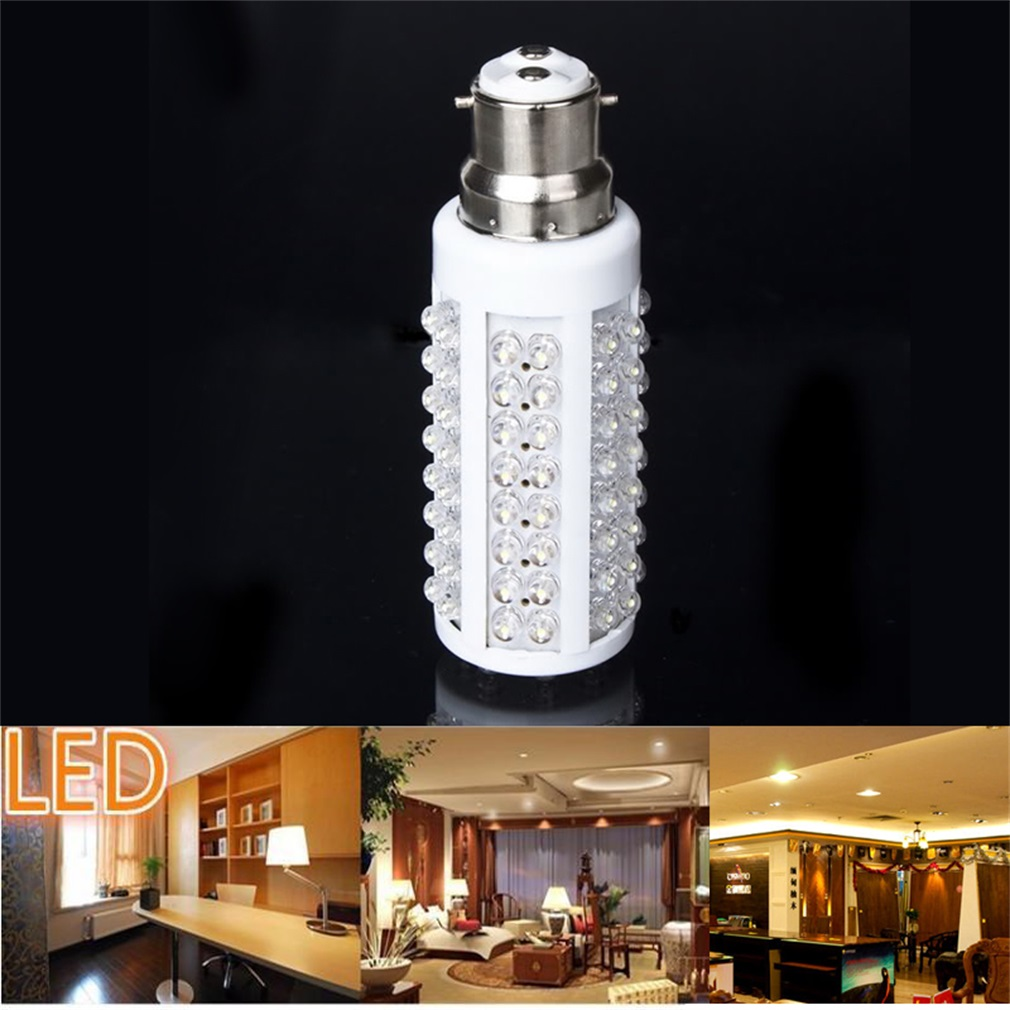 New 108 LED Corn Light Bulb B22 5W 450LM Cold White 110V