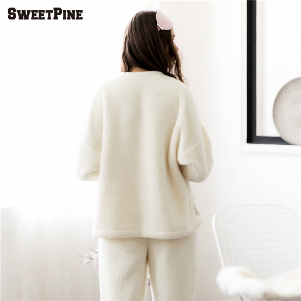 SWEETPINE Lovely Pajama Sets with Pockets & Cute Pig Face Pattern for Women
