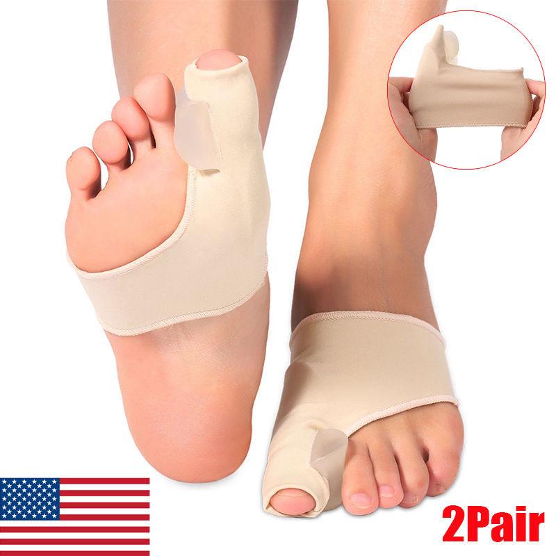 1 Pair Toe Varus Supporter Bunion Straightener Corrector Alignment Pain Relief