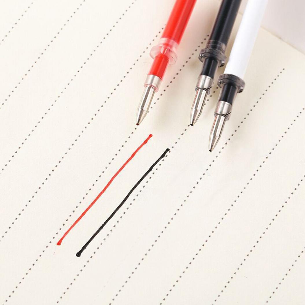 10Pcs 0.5mm Nib Smooth Ink Gel Pen Refills Office School Stationery Supplies