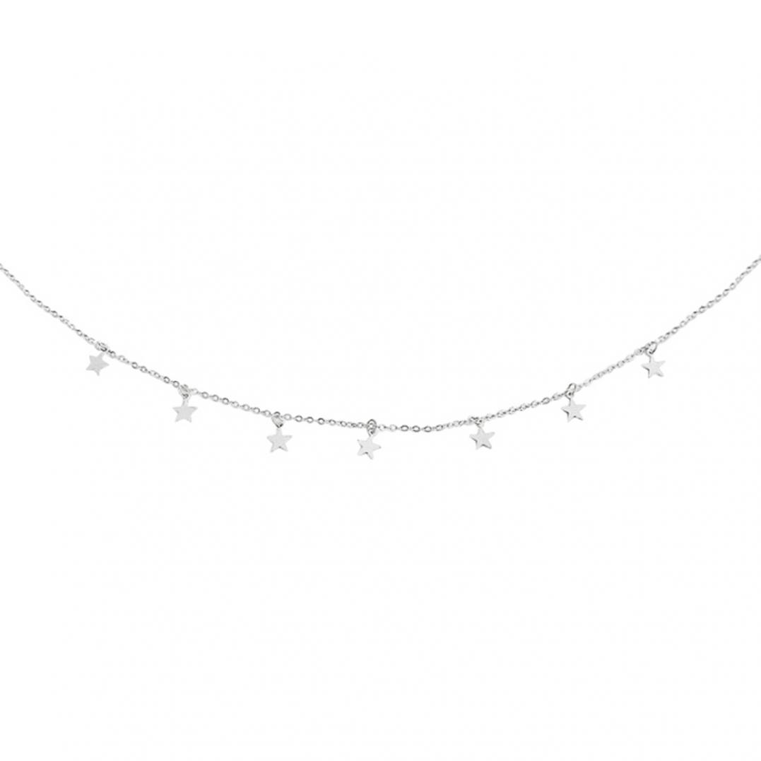 Women's Stars Pendant Chain Choker Alloy Necklace