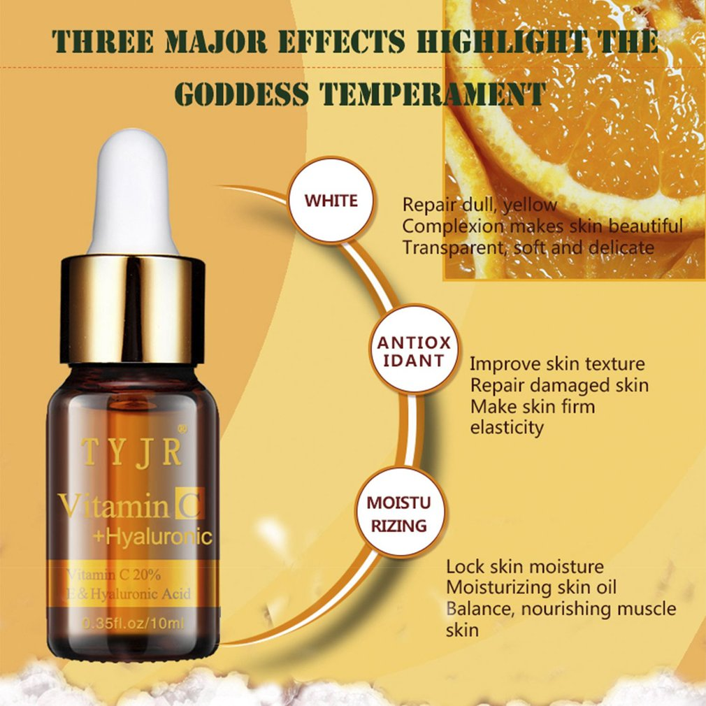 10ML Vitamin Hyaluronic Acid Facial Skin Care Moisturizing Skin Liquid