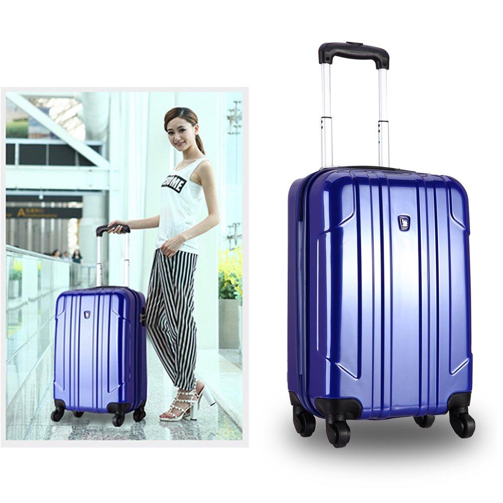 OIWAS OCX6075-20 Dark Blue Coded Lock Rolling Luggage 20inch Suitcase Trolley