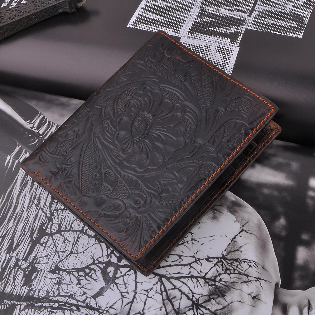 Ethnic Style Men Wallet Short Protable Leather Money Clips Wallets Purses