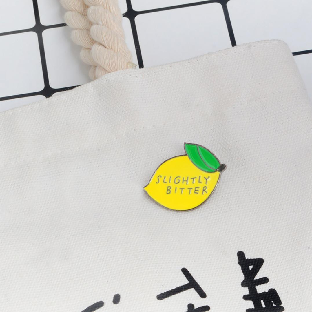 Women's Slightly Bitter Lemon Enamel Brooch Pin