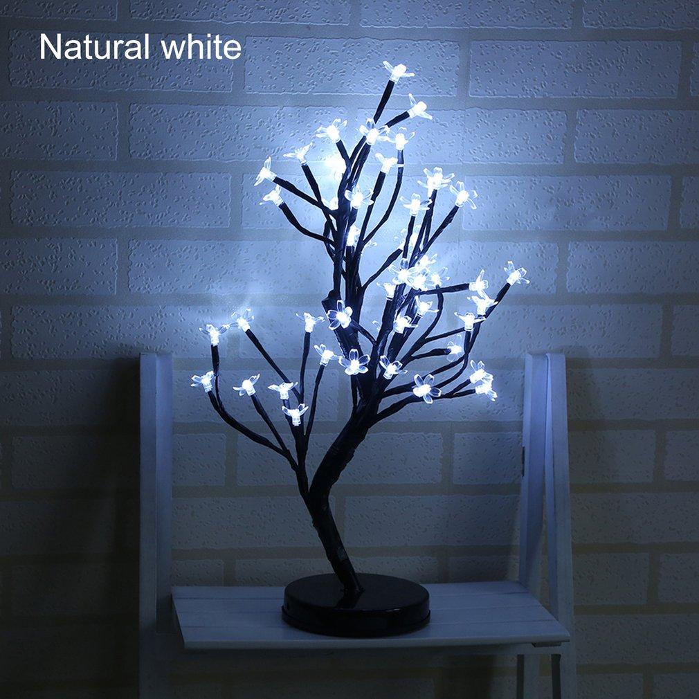 48 LED Plum Blossom Tree Night Lights Battery Powered Home Festival Decoration