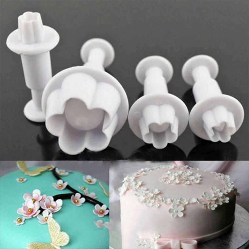 46pcs Plastic Cake Decorating Fondant Icing Cutters Plungers Mold Tool Set