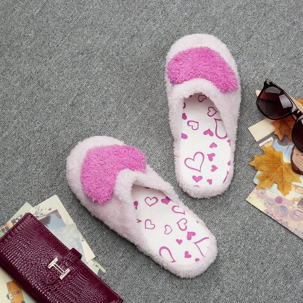 Creative Women Ladies Home Floor Slippers Indoor Girls Cotton Padded Shoes
