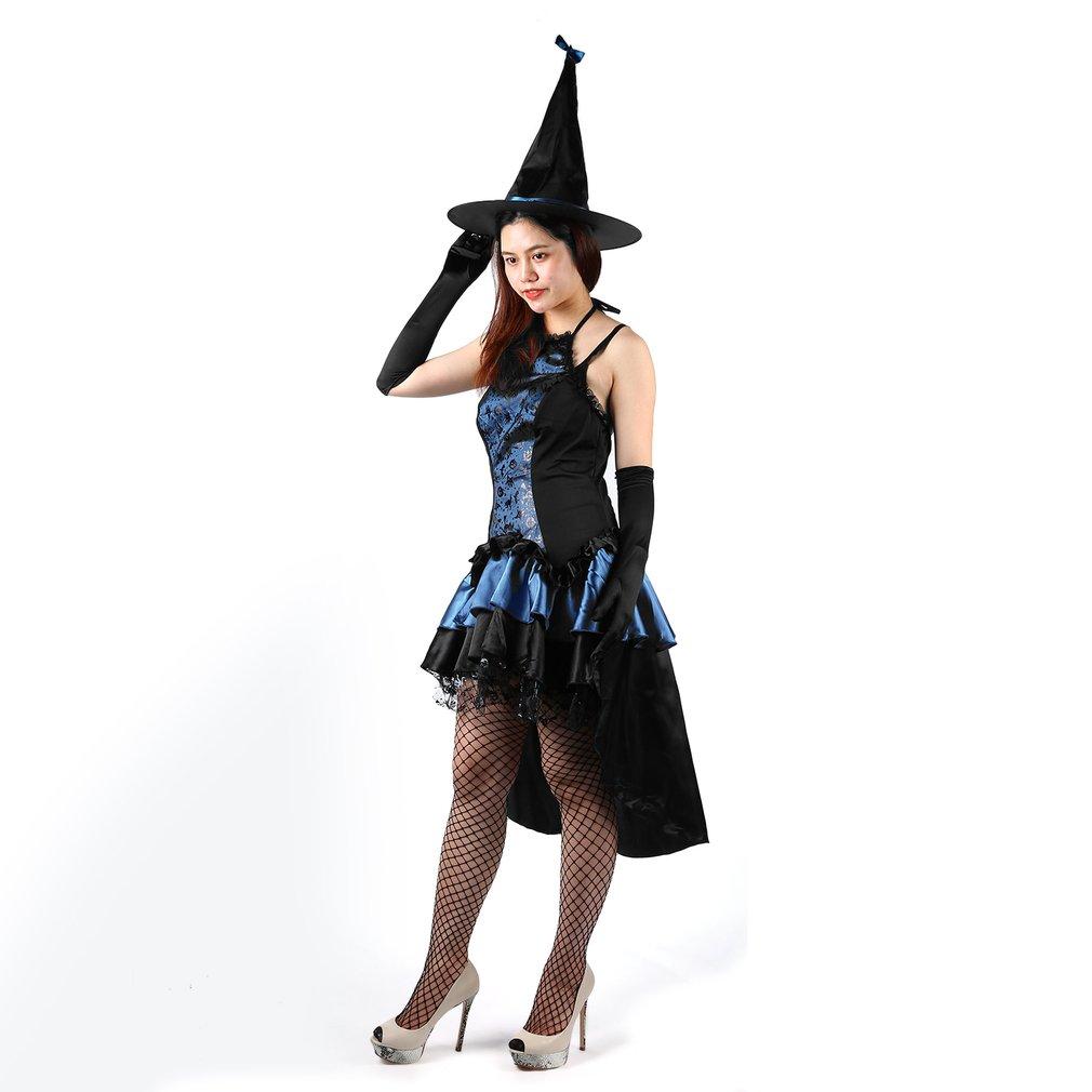 Halloween Costumes Cosplay Womens Black Witch Hat Love Suit Uniform Temptation