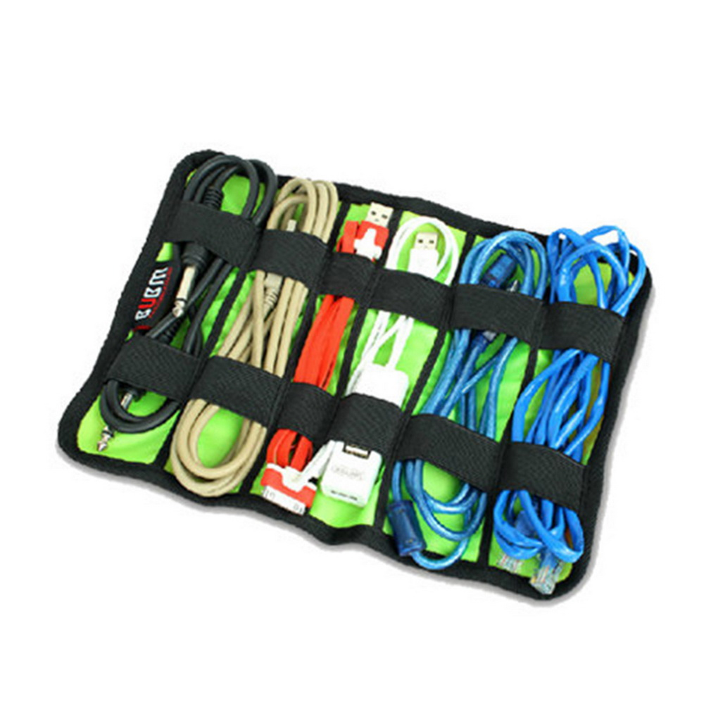 Digital Devices Storage Collection Bag Case For MP3 U Disk Data Wire Cable