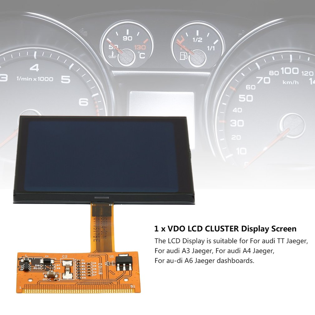 TT LCD Display Screen Cluster LCD Screen for Audi A3 A4 A6 Super Quality