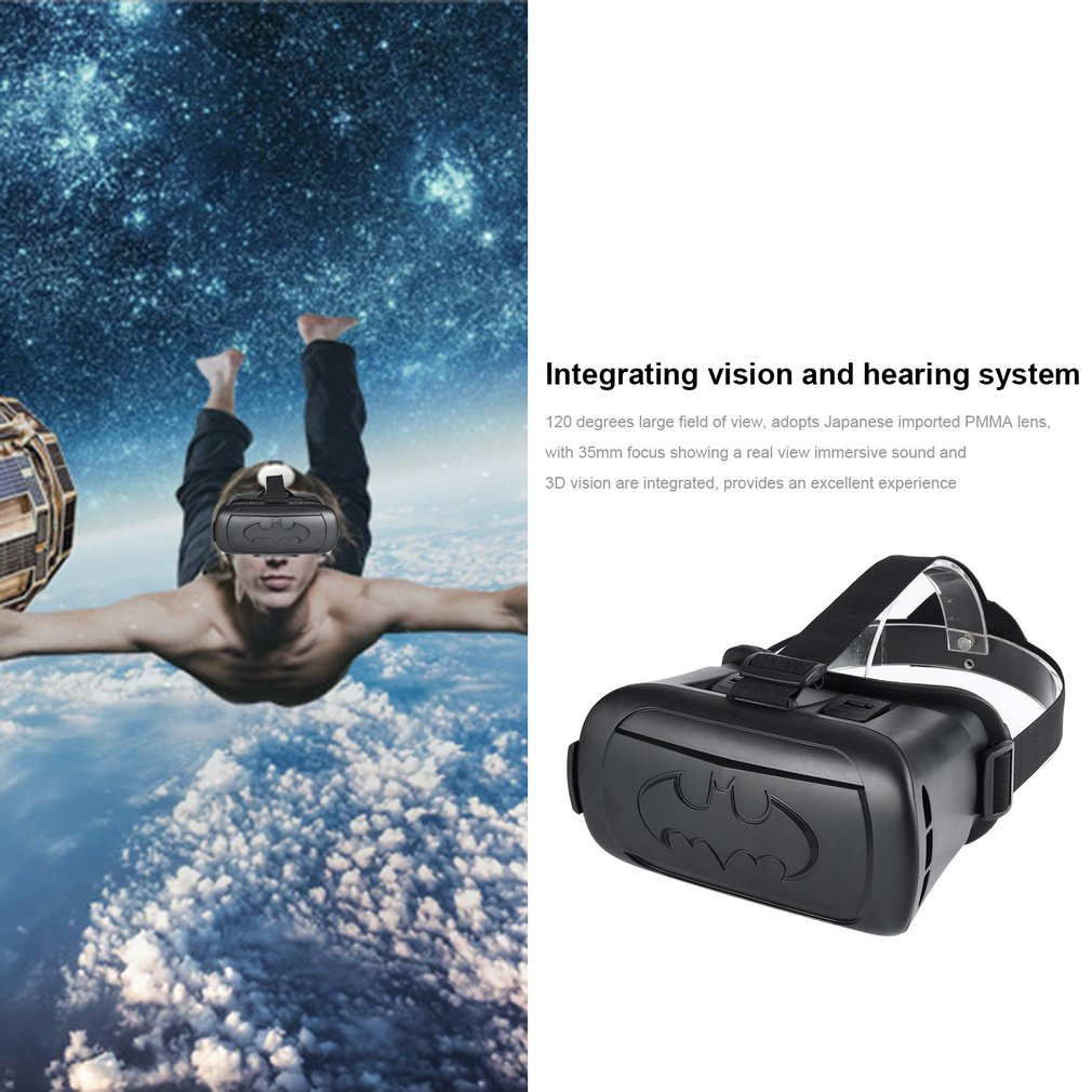 Batman VR Game Goggles Virtual Reality Set 360˚ Graphics IR Controller Black
