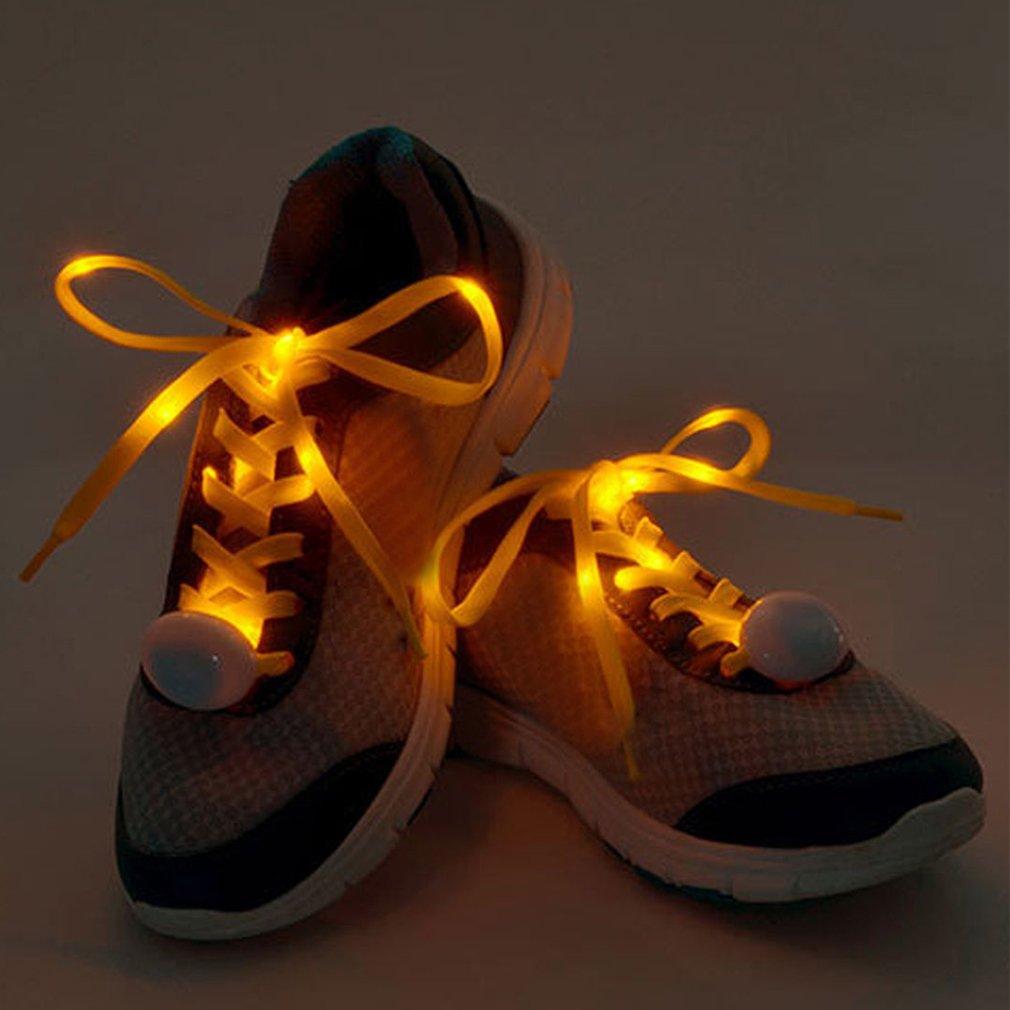 Hot Sale Nylon Flashing Shoe Laces Flash Light Up LED Glow Shoelaces Strings