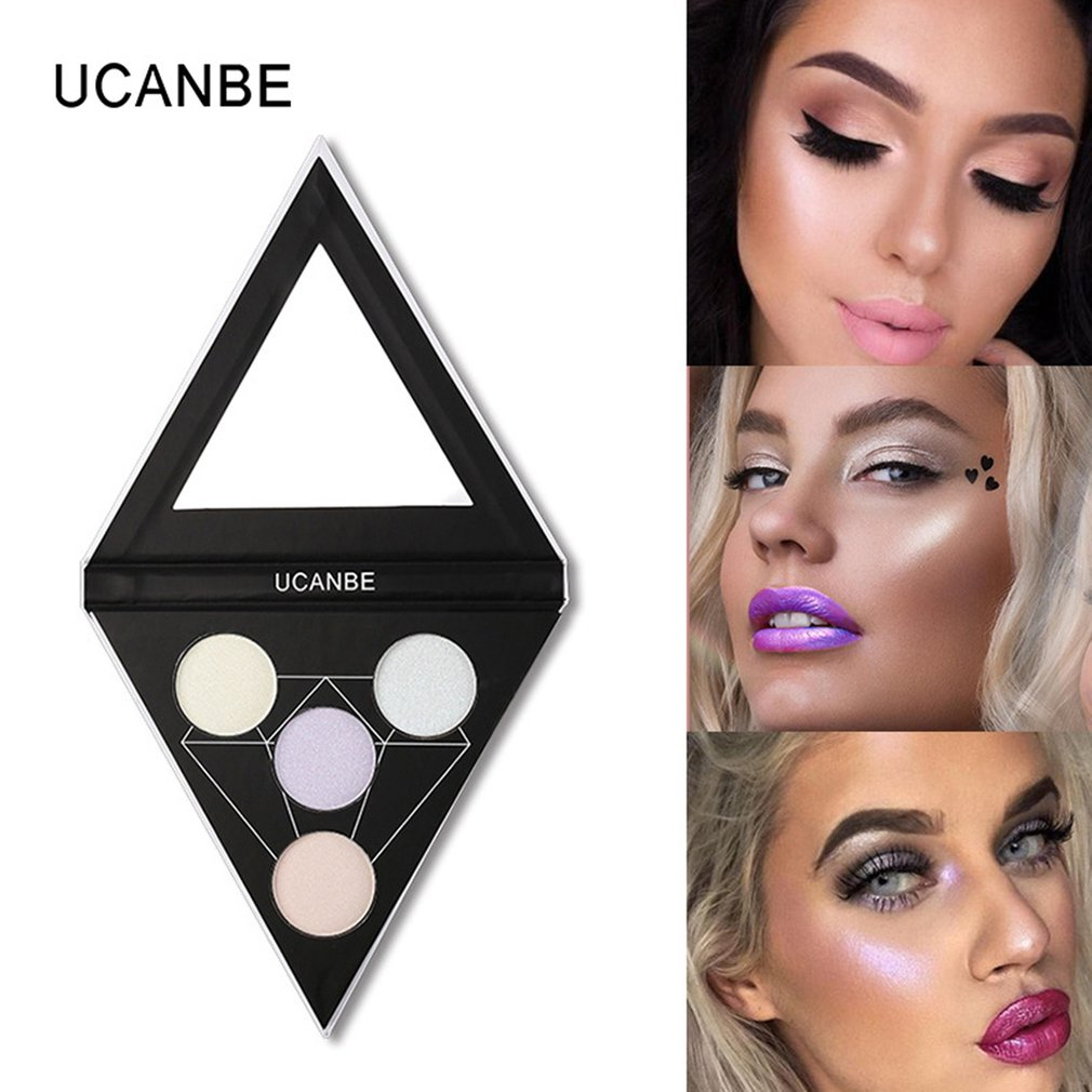 Professional 4colors Highlight Powder Face Makeup Face Cheekbones Nose Brighten Whitening Cosmetic Long Lasting Makeup Palette