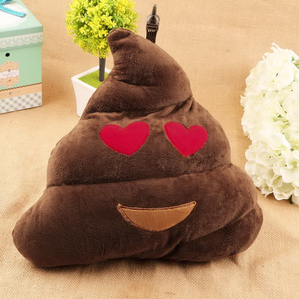 1pc Cute Funny Cushion Poo Shape Pillow Stuffed Doll Toys Children Gifts
