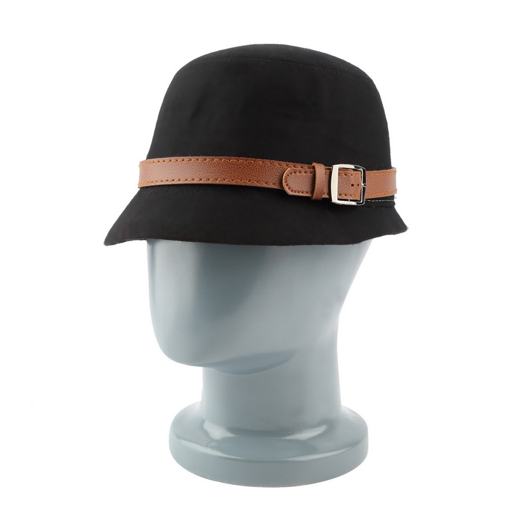 New Fashion Vintage Women Lady Ladies Felt Bowler Hat Bucket Cap Hat